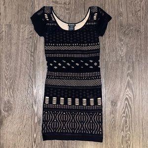 Bebe spandex double layer dress